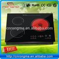 vetro temperato piano di cottura popin cottura a raggi infrarossi fornello di induzione