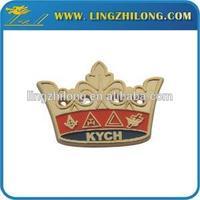 High Quality Metal Funny Custom Lapel Pin Masonic Kings Crowns Badge