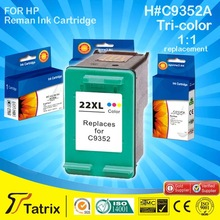 Inkjet Cartridge For HP 22XL,Remanufactured Ink Cartridge C9352A With ISO SGS CE Certificates