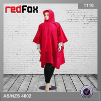 cheap red printed rain poncho woman for sale