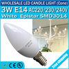 Hot sales!! 3w led bulbs e14 led technology e14 led candle