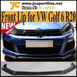 EXOT Style R20 Front Lip MK6 Carbon Fiber Lip Kits For Volkswagen Golf VI 6 R20 Bumper