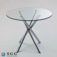 2014 5mm 6mm 8mm 10mm small round glass dining tables