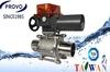 3PC mechanical pneumatic operated taiwan float ball valve