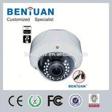 2014 Hot Sales High Definition 2.8mm To 12mm Varifocal Lens POE IP External Dome Camera