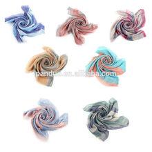 2014 Fashion Women's Cotton Scarf Multicolor Striped Pattern Print shawl scarf
