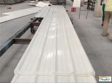 Glazed plastic roofing tiles for warehouse