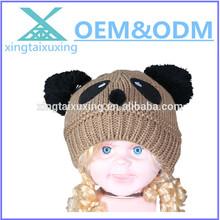 Cute custom animal acrylic baby's knitted beanie hat w\holesale