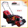 "20"" 4-in-1 pertrol self-propelled lawn mowers/ mini lawn mower/ grass cutter KCL20SP 196CC"