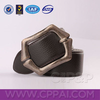 Causal black jean belt for men