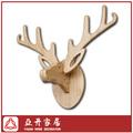 De hueso de ciervo colgando de la pared/cabeza de animal decoración de la pared