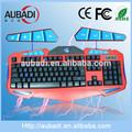 2014 novos produtos design atraente oem computador teclado luminoso teclado para jogos para computadores de mesa