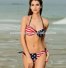 US flag 2014 new hot sexy girl swimwear photo girl bikini BK025