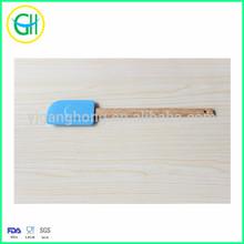Hot sale blue dough scraper with wooden handle