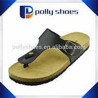 2015 women beach flip flop leather sandal