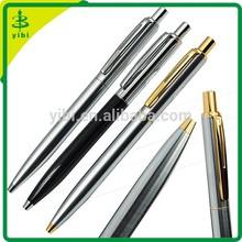 JD-LJ17 hot-selling click promotion logo stainless steel metal ball pen