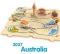 Singular baratos caliente venta al por mayor de madera 3d educativos explorar el país diferentes juguetes de tren puzzles/rompecabezas pistas para los niños