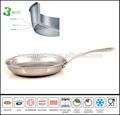 gourmet sartén 3 capas de material compuesto fry pan