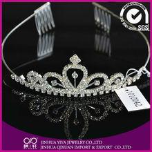 Elegant Crystal Bridal Crown, Wedding Party Tiara YC-1010042