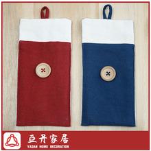 Hand made linen fabrics cell phone case