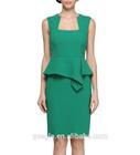 middle aged women fashion dress,green peplum fashion dress for middle aged women
