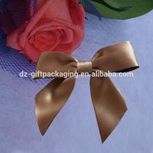 6cmx8cm Brown Double Face Satin Ribbon Bow Wholesale