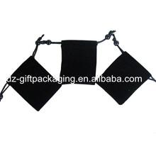 High Quality Mini Black Velvet Bag For Gift Wholesale
