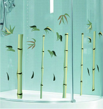 Bamboo removable vinyl window decals/electrostatic window cling/window sticker without any glue