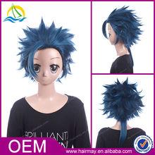 New product kanekalon japanese customizable dark blue Cosplay wig