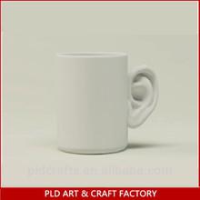 11oz Porcelain Ear Handle Coffee Mug,Coffee Mug Wholesales/Blank White Color Cups