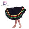 C2317 kids character dance skirt long character skirt colorful long dance skirt