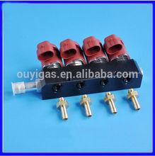 Lpg / gnc rampa de inyección del inyector del carril para lpg / gnc sistema de inyección secuencial