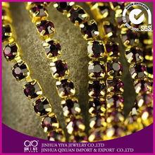 china clear crystal rhinestone trim for clothing decorations rhinestone cup chain