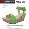2014 Hot sale latest women slipsole sandals comfortable footwear upper with metal buckle