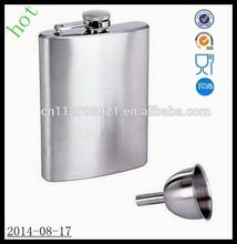 Factory wholesale 6 oz stainless steel hip flask