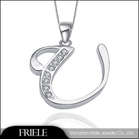 silver pendant alphabet letter china online shopping