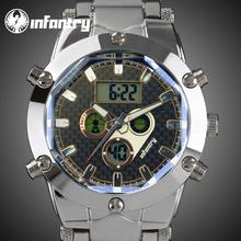 INFANTRY Aviator Pilot Men's MultiFunction Digital Quartz Wrist Watch