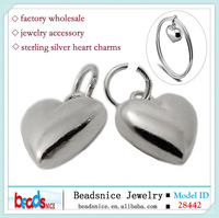 Beadsnice ID 28442 Wholesale jewelry findings 925 sterling silver heart charms