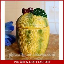 pumpkin shaped custom ceramic salt pepper shaker design wholesale gifts
