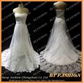 Vestido de novia de encaje de tela espalda abierta de novia Kleinfeld Wedding Dresses diseño BYB-14502