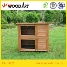 Hot! Wooden Rabbit Cage,Two-Story,Roof With Hinges
