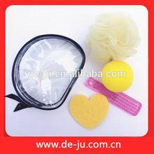 Sponge Ball Plastic Comb Bath Flower Four Items Body Spa Massager