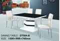 Alto brillo mesa de comedor de madera bases para vidrio