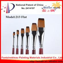 Office&School Professional Oil Painting Brushes Flat Shape Hot selling Nylon Painting Brush