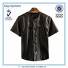 2014 new black cool mens short sleeve leather T-shirt