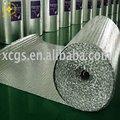 Doble- cara reflectante de aluminio papel de aluminio de aislamiento/radiante reflectante de aluminio de la burbuja de aislamiento de papel de aluminio para aislamiento de cubiertas