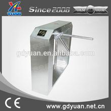 security system counter tripod turnstile gate with fingerprint reader