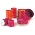reciclado vermelho mini papel pode embalagem para caixas de presente de casamento