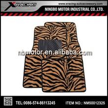 XRACING 2014 4pcs Anti Slip Pvc Zebra Carpet Car Mat,Car Floor mat