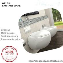 KB-138 egg shape villa wall hung toilet bathroom hanging water closet